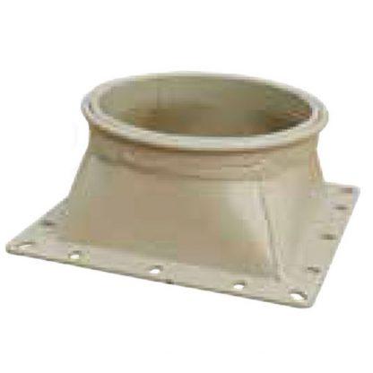 Trémie droite Ø160mm carré 150/160mm